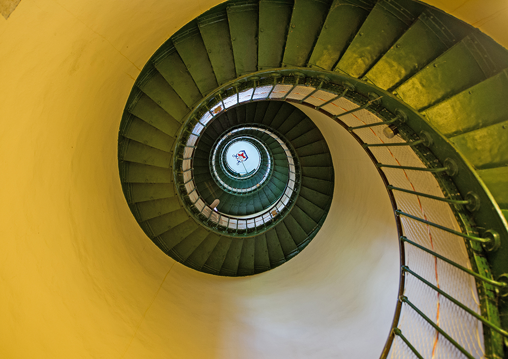Contis, escalier du phare