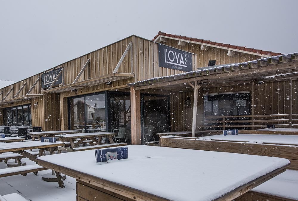 CONTIS - Restaurant l'Oyat sous la neige