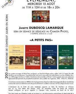 Dédicace Janette Duboscq Lamarque mercredi 15 août
