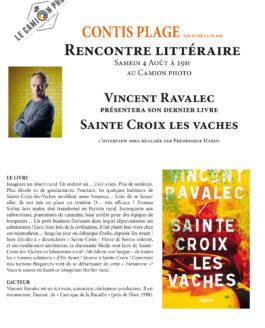 Samedi 4 août 19h – Rencontre littéraire avec Vincent Ravalec